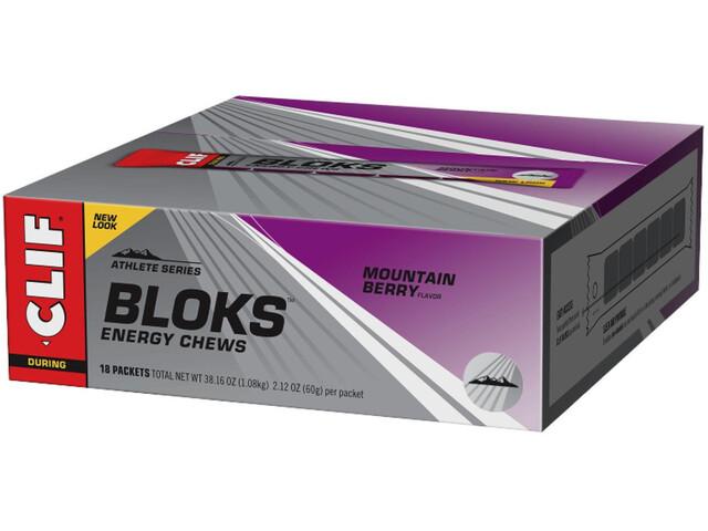 CLIF Bar Shot Bloks Box 18x60g Mountain Berry